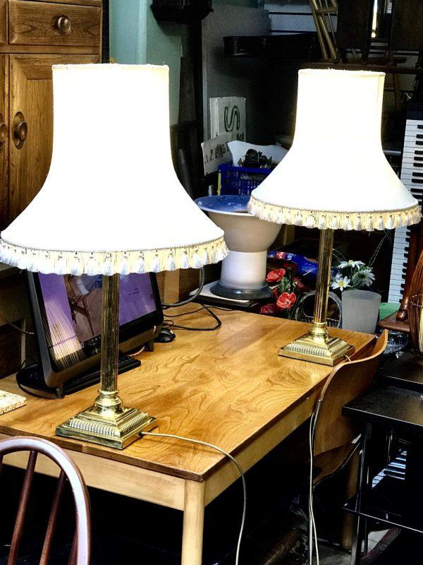 Classic Corithian Side lamps