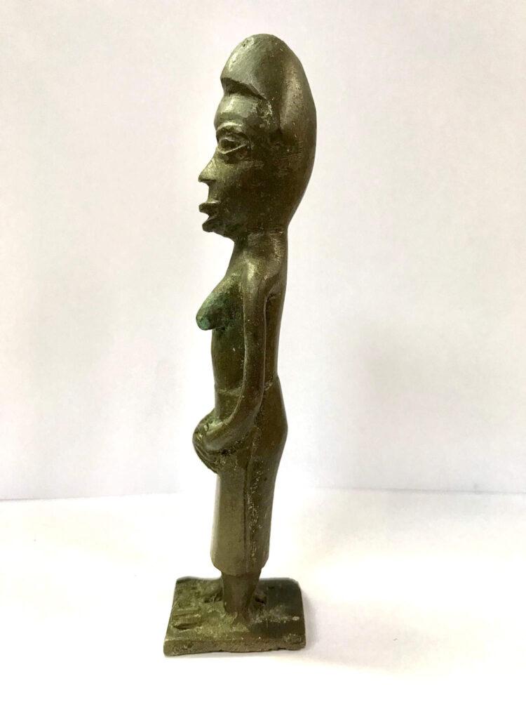 African Bronze Female figure
